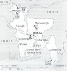 バングラデシュ地図